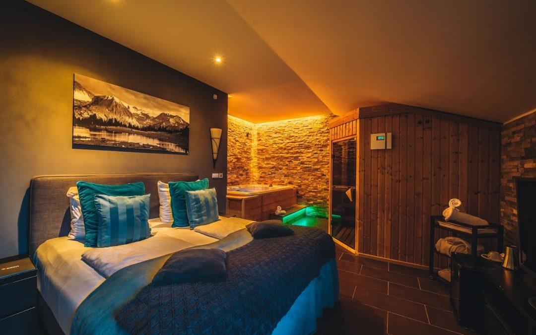 Wellness apartmá s vířivkou a finskou saunou